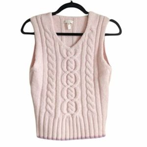 Escada Pink Wool Sweater Vest